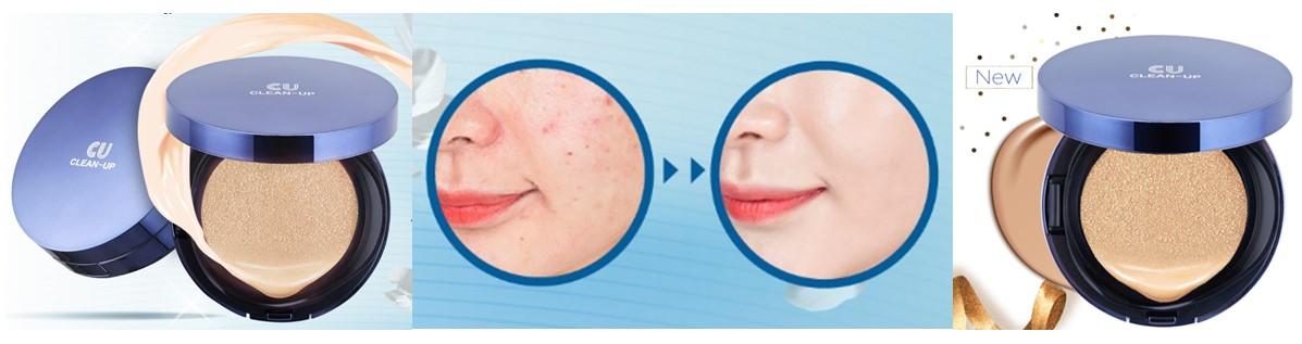 Купить CU Skin Кушон со сменным блоком 15 г - Clean-Up Skin Fit Cushion SPF 50+ PA+++